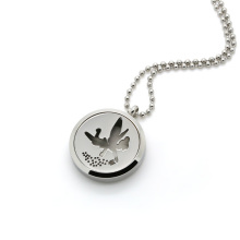 Essential oils diffuser locket necklace