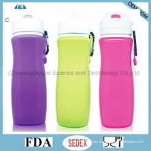 Regalo de promoción plegable de silicona para el agua Scu04 (450 ml)