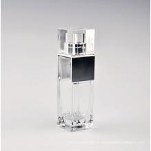 Bouteille en verre à parfum carré transparent avec capuchon Surlyn