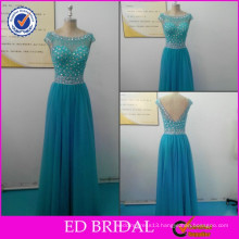 FY034 New Collection Real Sample Crystal Beaded Cut Back Tulle Alibaba Evening Dresses
