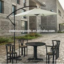 Parasol en voladizo de jardín de aluminio en jardín al aire libre