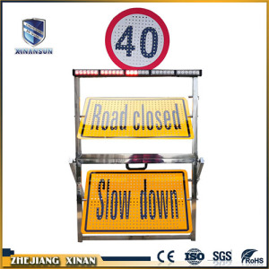 Portable sectional traffic reflective warning board