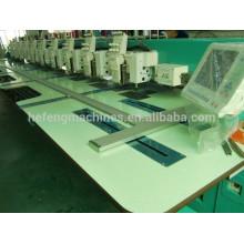 18 cabezas de Chenille / Cadena-puntada máquina de bordado de la industria, recortadora automática