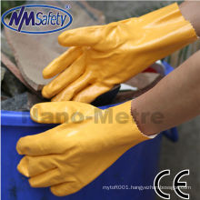NMSAFETY interlock nitrile dipped glove with gauntlet