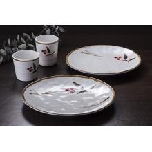 """100% 7 """"vaisselle de mélamine / plat rond de mélamine / plat de dîner (JB13807-07)"""