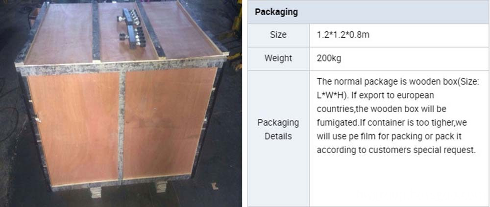concrete polishing machine packing