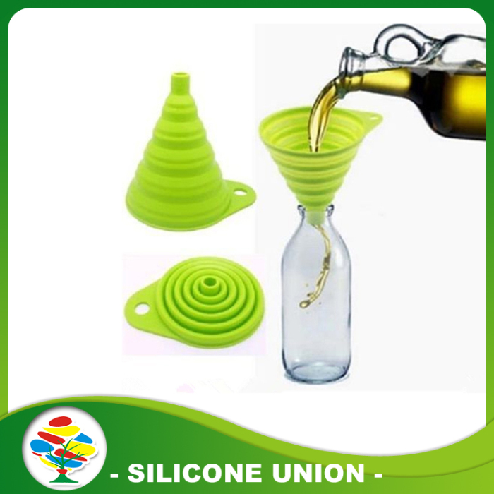 Green Silicone fold funnel