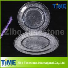 Venta caliente de vidrio transparente de la placa de frutas
