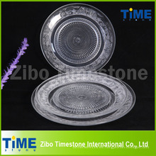 Venta caliente de vidrio transparente plato de fruta