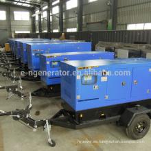 Remolque móvil del generador 20kw-200kw 380v con calidad estándar de las ruedas