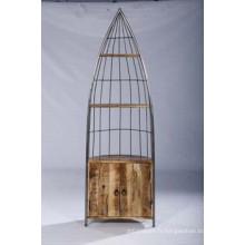 Étagère en bois en bois haute qualité en forme de livre
