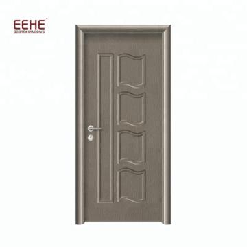 Placage de PVC de porte de salle de bains en bois MDF de conception simple