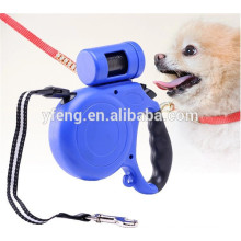 New automatic pet retractable dog collar leash with bag
