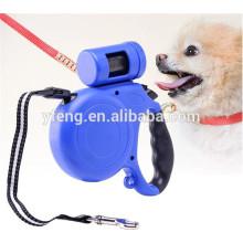 Nova coleira de coleira de cachorro retrátil automática com saco