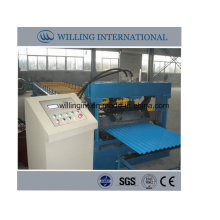 Glazed Wall Sheet Roll Forming Machine Line for Metal Corrugated Roof Panel
