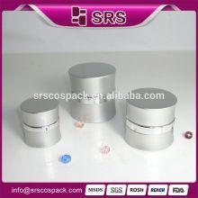 Silver aluminum jar for cosmetics , Manufacturers wholesale empty luxury cosmetic aluminum jar