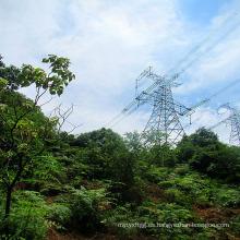 Torre de la transmisión de la energía del hierro del enrejado del solo circuito de 220 kilovatios