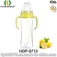 Biberon d'alimentation en plastique de bébé de cou standard sans BPA (HDP-0713)