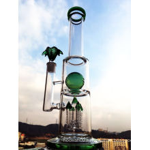 Green Ball Perc Smoking Pipe Enjoylife Hbking Glass Water Piper Rockect Inline Perc Borosilicate Smoking Pipe