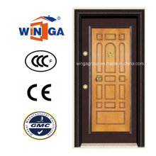 Decorative Frame MDF Armored Security Steel Doors (W-T03)