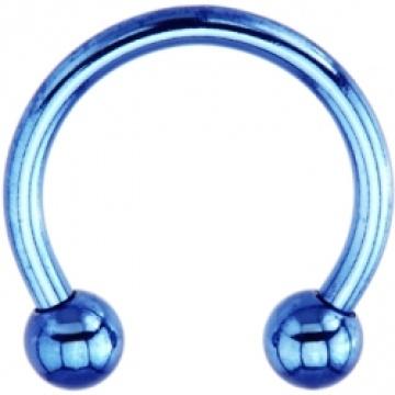 14 Gauge Blue Electro Titanium Horseshoe