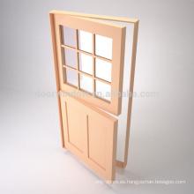 Venta caliente 48 pulgadas de puertas exteriores de madera puerta holandesa con hardware