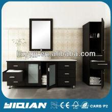 Venta caliente diseño moderno cuarto de baño muebles con gabinete lateral impermeable MDF cuarto de baño gabinete