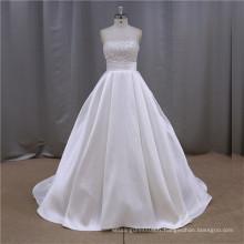 Robe de mariée et de quinceanera bordée de sirène brodée
