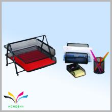 Офисный стол набор в черной металлической сеткой канцелярский набор