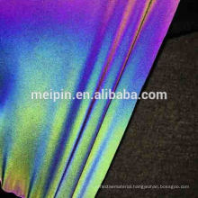 High Visible Soft Waterproof Rainbow Reflective Stretch Textile/ Fabric