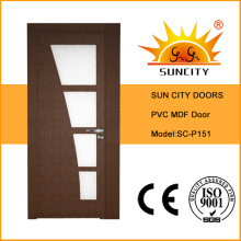 Glass Design Interior MDF Wooden Door (SC-P151)