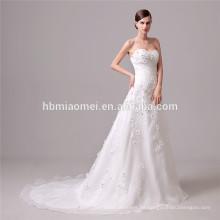 Das elegante Hochzeitskleid der Taille Band weg von Schulter backless fish schnitt Hochzeitskleid