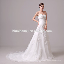La cintura elegante vestido de novia hombro hombro sin espalda corte vestido de novia