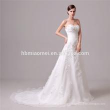 La robe de mariée élégante de bande de taille hors de l'épaule poisson dos nu coupe robe de mariée