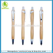 Conjunto de alta qualidade promocional Eco bambu amigável esferográfica e caneta stylus