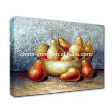 Todavía De La Vida De La Pintura De Aceite De Frutas En Hecho A Mano