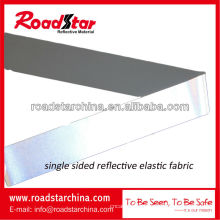 tecido elástico reflexivo prateado alta