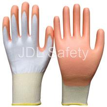 Белый нейлон перчатки работы ладонью PU покрытием (PN8006)
