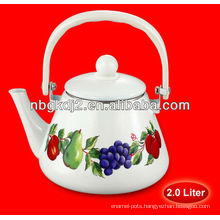 2.0L enamel tea kettle/water kettle with bakelite handle and plastic knob