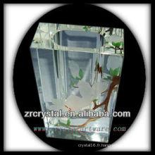 Vase en cristal de peinture à la main