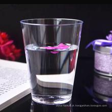 Limpe o copo de chá plástico descartável duro do picosegundo para o banquete de casamento 7oz 200ml