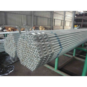 Tubos de acero redondo pre galvanizado Q235
