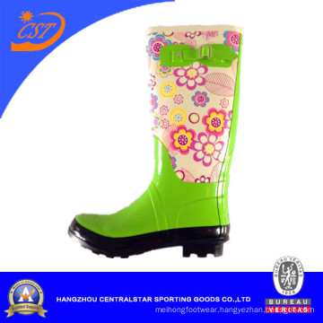 Flower Printing Women Rubber Boots Wr-299