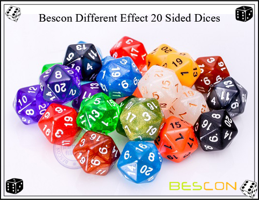 Bescon Different Effect 20 Sided Dices