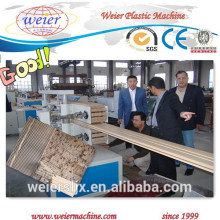 running wpc lines for decking fence post pallet floor / wood plastic composite machine