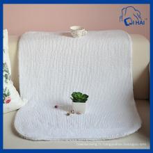 Serviette de toilette en coton blanc pur (QHA558)