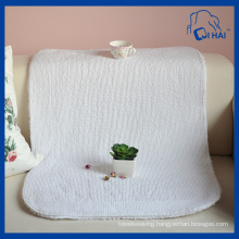 Pure White Cotton Floor Towel (QHA558)