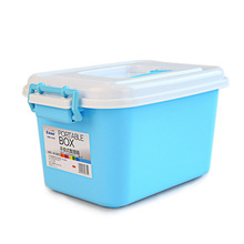 European Style Plastic Storage Box with Handle (SLSN066)