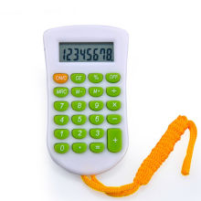 8 Digits Push Buttons Calculator with Lanyard