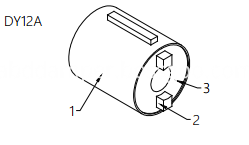 Safety handle of car roof damper Drawing